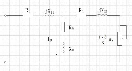 图2-2 异步电动机稳定态等效电路   在参数辨识中,必须注意:(1)若